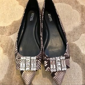 Barely worn pointed MK flats